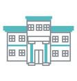 hospital building symbol vector image vector image