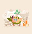 insurance agency mobile online web application vector image vector image