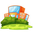 isolated school building with nature vector image