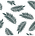leaves tropical seamless pattern vector image