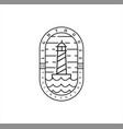 lighthouse mercusuar geometric abstract line logo
