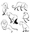 lion design set vector image