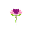 lotus flower medicine pharmacy beauty logo vector image vector image