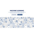 machine learning banner design vector image vector image