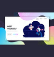 man visiting night club website landing page male vector image