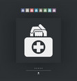 medical bag icon vector image