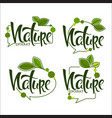 nature handdrawn lettering and doodle organic vector image vector image