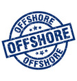 offshore blue round grunge stamp vector image vector image