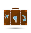 old fashioned suitcase for travel vector image