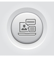 Online Consulting Icon Grey Button Design vector image vector image