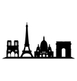 paris skyline vector image