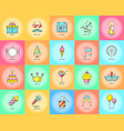 party icons celebration vector image vector image
