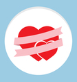 Pink Ribbon With Couple Heart vector image vector image