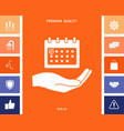 planning time management hand holding calendar vector image