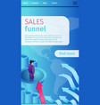poster is written sales funnel cartoon banner vector image