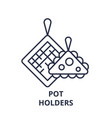 pot holders line icon concept pot holders vector image vector image