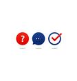 Questionair icon set help desk support tutoring vector image vector image