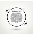 Round quote text bubble vector image vector image