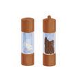 salt shaker and black pepper mill or grinder from vector image