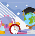 school education equipment vector image vector image