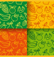 seamless pattern fruits vector image vector image