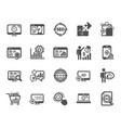 seo icons set of increase sales business vector image vector image