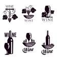 set elegant wine logo templates vector image