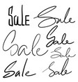 set handwriting vector image vector image