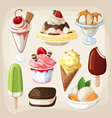Set of colorful tasty isolated ice cream vector image vector image