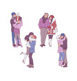 set of loving couples in vector image vector image