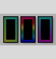 social media stories black background set vector image vector image