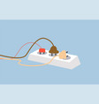socket and plug safety poster vector image