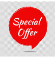 speech bubble tag isolated white background vector image vector image