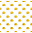stack of gold bars pattern vector image vector image