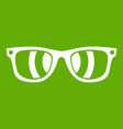 sunglasses icon green vector image vector image