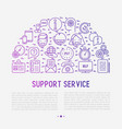 support service concept in half circle vector image vector image