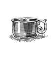 tea or coffee cup vector image