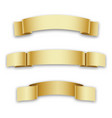 three golden holiday ribbons for birthday vector image vector image
