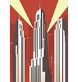 Vertical cartoon city vector image vector image