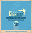 Vintage poster design for cleaning service vector image vector image