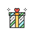 wedding gift giftbox present surprise flat vector image