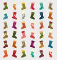 winter socks collection vector image vector image