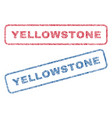 Yellowstone textile stamps