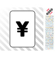 yuan card with bonus vector image vector image