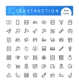 Construction Line Icons Set vector image