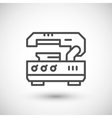 Metal cutting machine line icon vector image