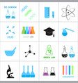 science and chemistry related icons vector image