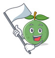 with flag guava mascot cartoon style vector image
