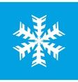 White snowflake icon vector image