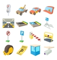 Parking icons set vector image
